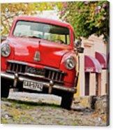Vintage Car In Colonia Del Sacramento, Uruguay Acrylic Print