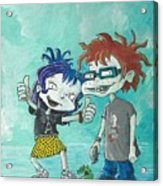 90s Kids, Kimmie And The Chuckster Acrylic Print