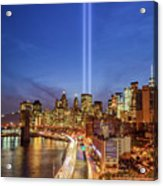 911 Tribute In Light In Nyc II Acrylic Print