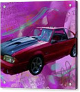 93 Mustang V2 Acrylic Print
