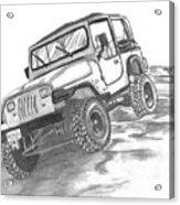 94 Jeep Wrangler Acrylic Print