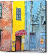 98  French Quarter Back Alley Acrylic Print