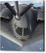 A B-2 Spirit Bomber Prepares To Refuel Acrylic Print