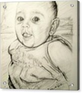 A Baby Smile Acrylic Print