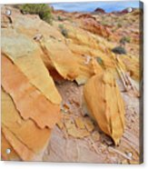 A Band Of Gold In Valley Of Fire Acrylic Print