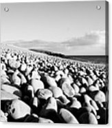 A Beach Of Stones Acrylic Print