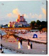 A Beach Scene Acrylic Print