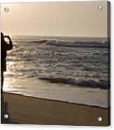 A Beach Walker Photographs Sunrise Acrylic Print