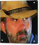 A Bearded Cowboy Acrylic Print