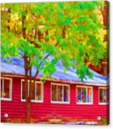 A Beautiful Country Building In The Fall 1 Acrylic Print