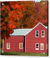 A Beautiful Country Building In The Fall 2 Acrylic Print