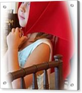 A Beautiful Girl Dreaming Acrylic Print