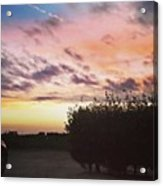 A Beautiful Morning Sky At 06:30 This Acrylic Print
