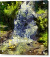 A Beautiful Waterfall Acrylic Print