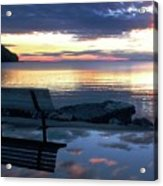 A Bench To Reflect Acrylic Print