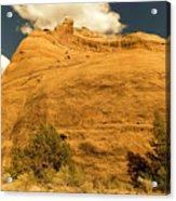 A Big Mountainous Rock On The Gemini Trail Moab Utah  Acrylic Print