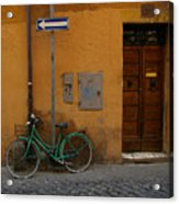A Bike In Rome Acrylic Print