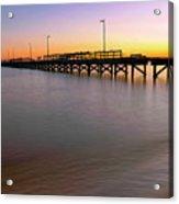A Biloxi Pier Sunset - Mississippi - Gulf Coast Acrylic Print