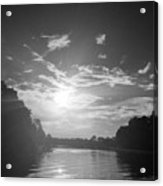 A Black And White Sunset Acrylic Print