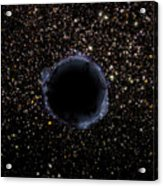 A Black Hole In A Globular Cluster Acrylic Print