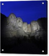 A Blue Rushmore Acrylic Print