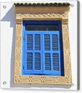 A Blue Window In Morocco Acrylic Print