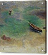 A Boat In The Waters Off Capri Acrylic Print
