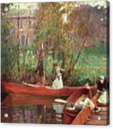 A Boating Party  Acrylic Print by John Singer Sargent