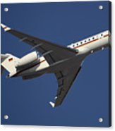 A Bombardier Global 5000 Vip Jet Acrylic Print by Timm Ziegenthaler