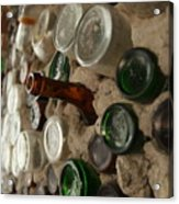 A Bottle In The Wall Acrylic Print