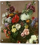 A Bouquet Of Mixed Flowers Acrylic Print