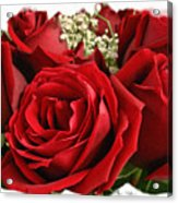 A Bouquet Of Red Roses Acrylic Print