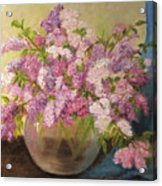 A Bowl Full Of Lilacs Acrylic Print