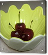 A Bowl Of Cherries Acrylic Print