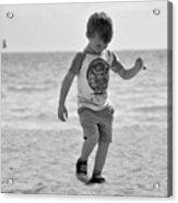 A Boy And His Beach Acrylic Print