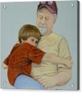 A Boy And His Dad Acrylic Print by Pat Neely
