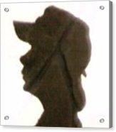 A  Boy's Shadow In Rock Acrylic Print