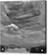 A Break In The Storm Bw Acrylic Print