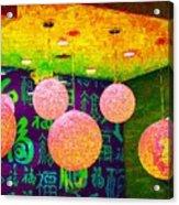 A Brick Wall Of Colors Acrylic Print