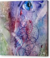 A Broken Eye Still Cries Acrylic Print