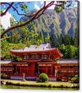 Buddhist Temple - Oahu, Hawaii - Acrylic Print