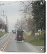 A Buggy Travels Down A Road In Spring Acrylic Print