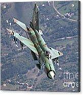A Bulgarian Air Force Mig-21bis Armed Acrylic Print