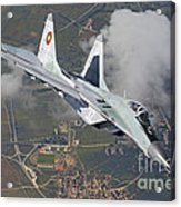 A Bulgarian Air Force Mig-29 In Flight Acrylic Print