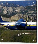 A C-130 Hercules Fat Albert Plane Flies Acrylic Print