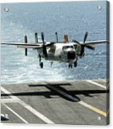 A C-2a Greyhound Prepares To Land Acrylic Print