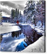 A Calm Winter Scene Acrylic Print