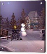A Calm Winters Night Acrylic Print