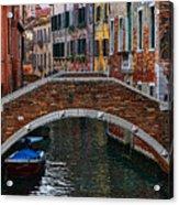 A Canal In Venice Acrylic Print