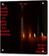 A Candle Acrylic Print